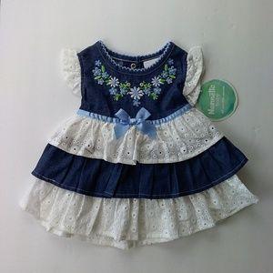Nannette Baby Girl's Denim Cotton Dress New